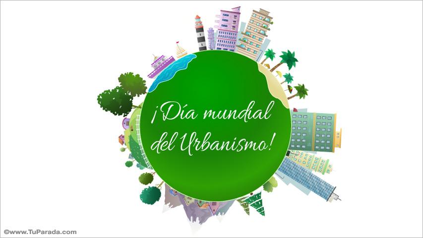 Tarjeta - Día mundial del Urbanismo