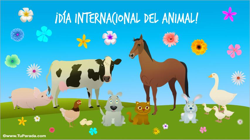Ver fecha especial de Día mundial de los animales