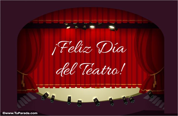 Ver fecha especial de Día mundial del teatro