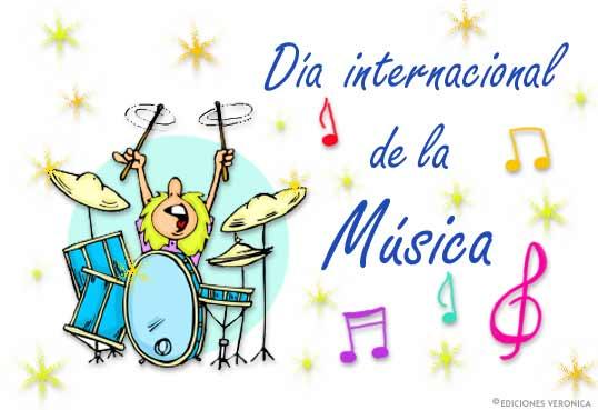 Tarjeta - Día Internacional de la Música.
