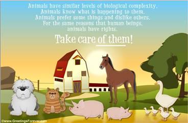 Animals need Love