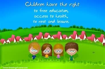 Rights of children ecard