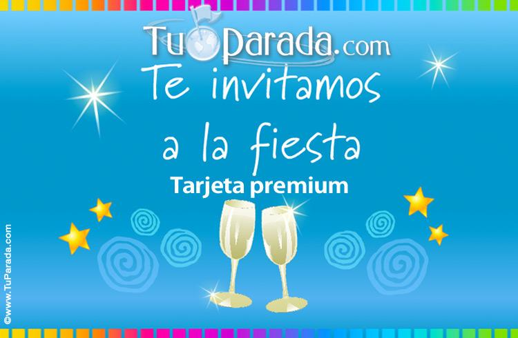 Invitación A Fiesta De Cumpleaños Invitaciones Para