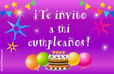 Te invito a mi cumpleaños