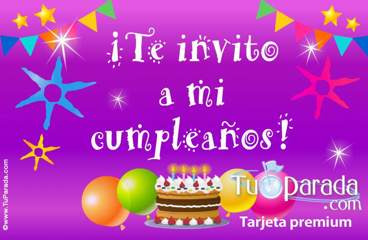 Te Invito A Mi Cumpleaños Invitaciones Para Cumpleaños