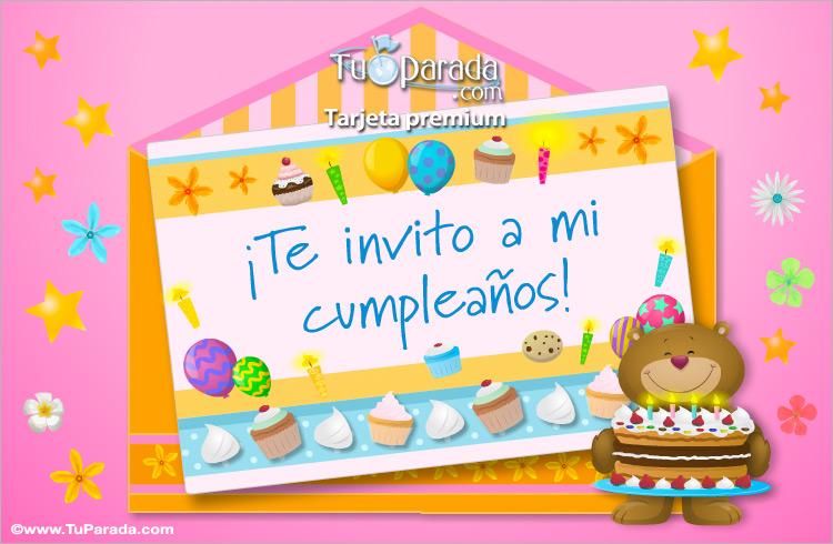 Tarjeta - Invitación de cumpleaños con sobre
