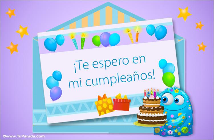 Invitación A Mi Cumpleaños Invitaciones Para Cumpleaños