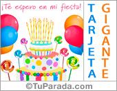 Tarjetas, postales: Invitaciones para cumpleaños