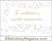 Tarjeta de Invitaciones para bodas