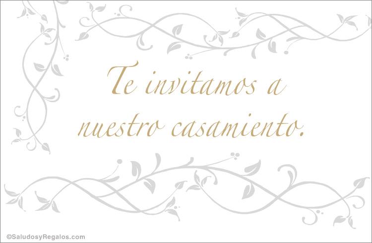 Tarjeta De Invitación De Casamiento Invitaciones Para Bodas