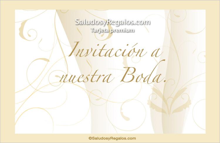 Tarjeta - Tarjeta de invitación de Boda