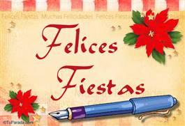 Felices Fiestas con lapicera