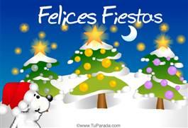 Felices Fiestas con oso blanco
