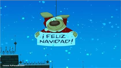 Tarjeta con mensaje de Papá Noel