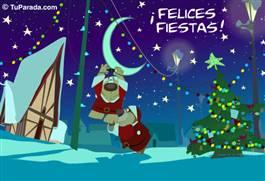 Felices Fiestas con luces y osos