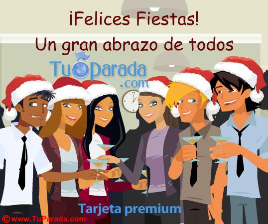 Tarjeta - ¡Felices Fiestas desde el trabajo!