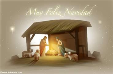 Pesebre: María, José y el niño Jesús