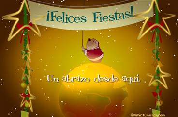 Felices Fiestas con mundo.
