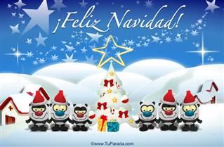 Feliz Navidad nevado con ositos