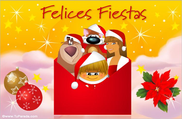 tarjeta de navidad tarjeta de felices fiestas postal navideña