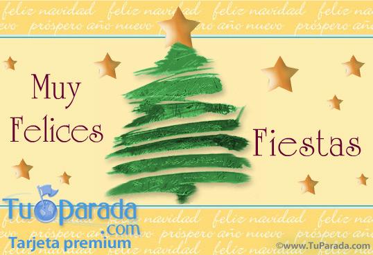 Tarjeta - Arbol de Navidad con estrellas