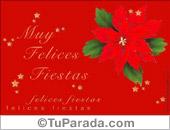 Muchas felicidades con flor navideña