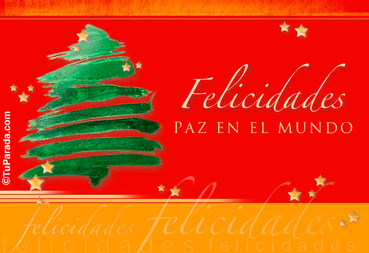Tarjeta - Felicidades con árbol navideño