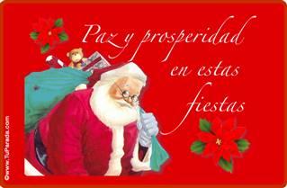 Tarjeta de Papá Noel
