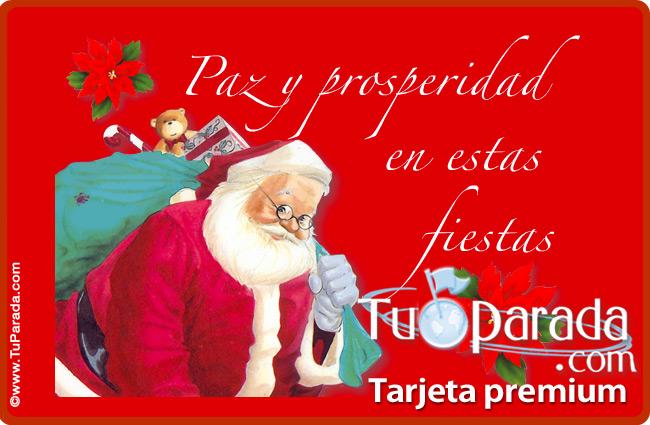 Tarjeta - Tarjeta de Papá Noel