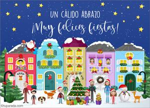 Tarjetas, postales: Felices Fiestas