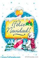 Feliz Navidad con oso y cartel