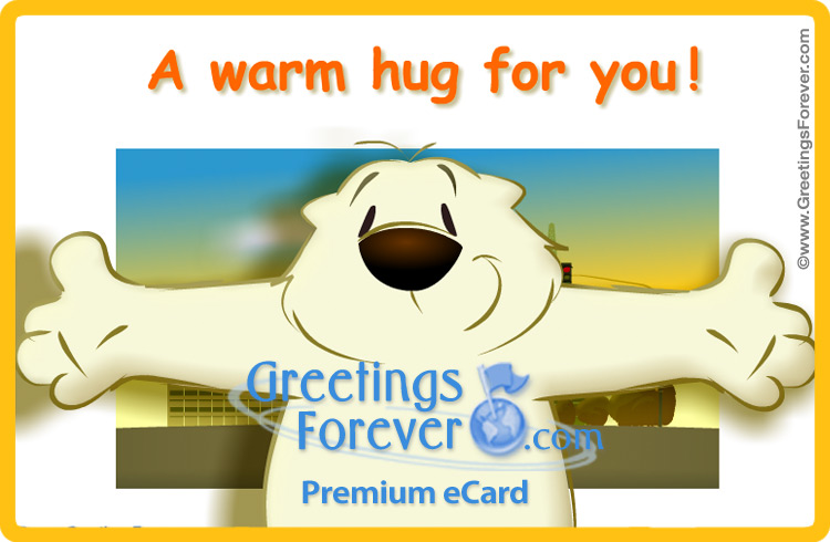 Ecard - A warm hug ecard