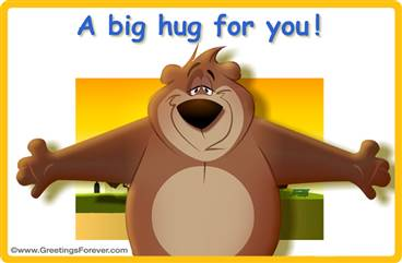 A big hug animated ecard