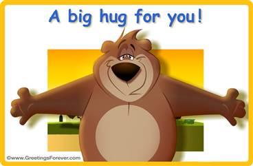A big hug animated ecard