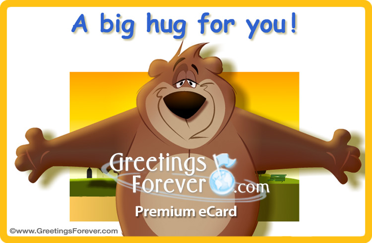 Ecard - A big hug animated ecard