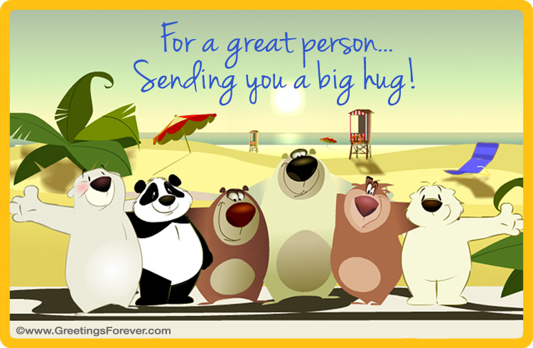 Ecard - Hugs ecard for you