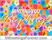 Hugs and kisses ecard
