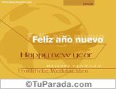 Tarjeta feliz año nuevo en varios idiomas