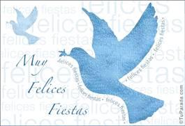 Paloma de la paz en celeste pastel