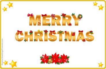 Tarjetas, postales: Navidad en inglés
