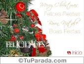 Tarjeta de Navidad y  fin de año