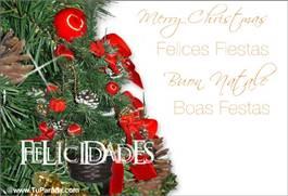 Felicidades con árbol navideño