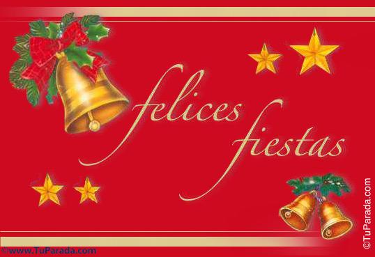 felices fiestas con campanas felices fiestas formales tarjetas