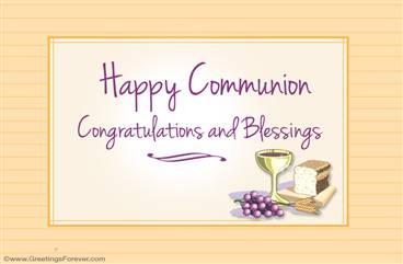 Happy Communion ecard