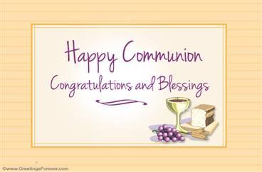 Happy Communion ecard