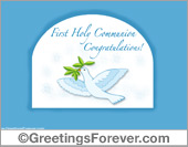 First Holy Communion ecard