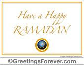Have a happy Ramadan