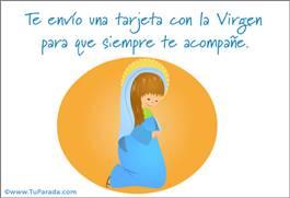 Tarjeta con la Virgen