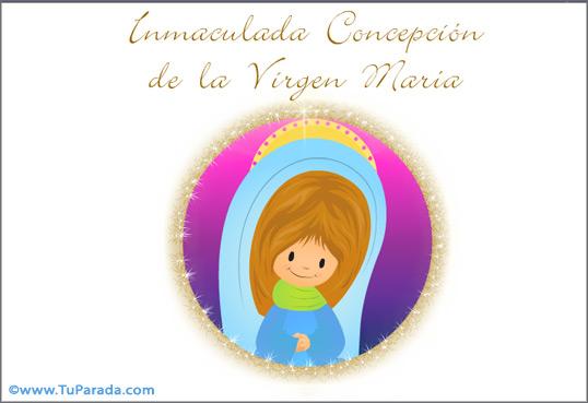 Tarjeta - María, Inmaculada Concepción