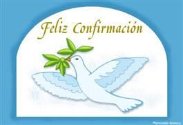 Feliz Confirmación con paloma
